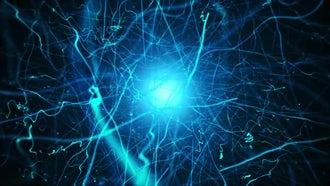 Electric Nucleus And Waves Background: Motion Graphics
