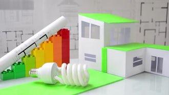 Energy Saving Light Bulb: Stock Footage