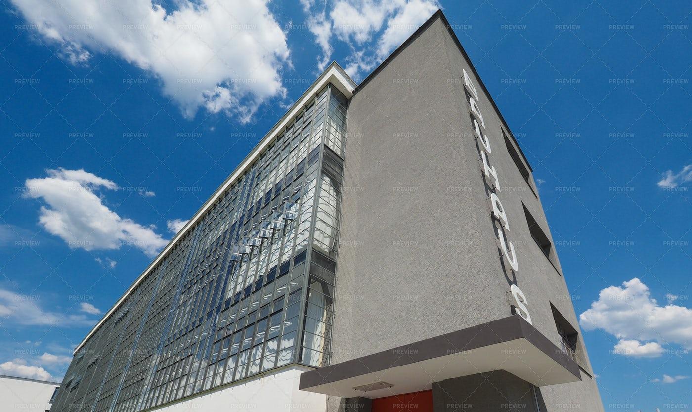 Bauhaus School, Dessau, Germany: Stock Photos