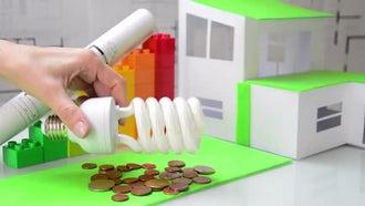 Representation Of Energy Saving Plans: Stock Video