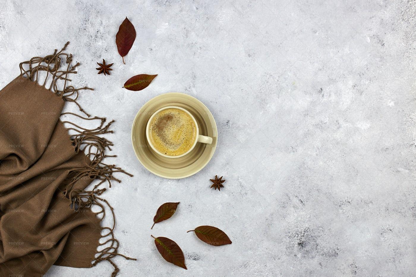Autumn Coffee Composition: Stock Photos