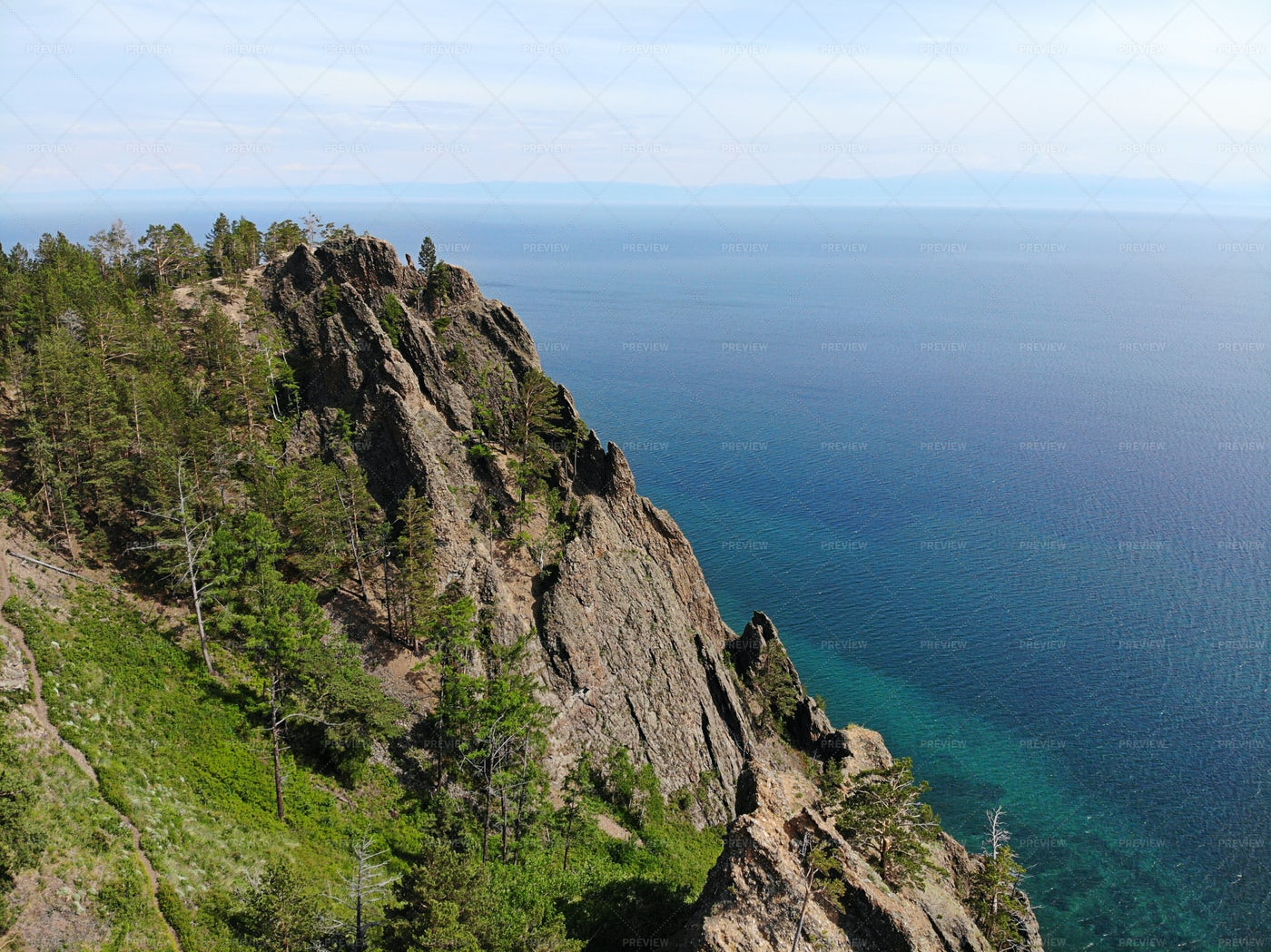 Skriper Rock, Lake Baikal, Russia: Stock Photos