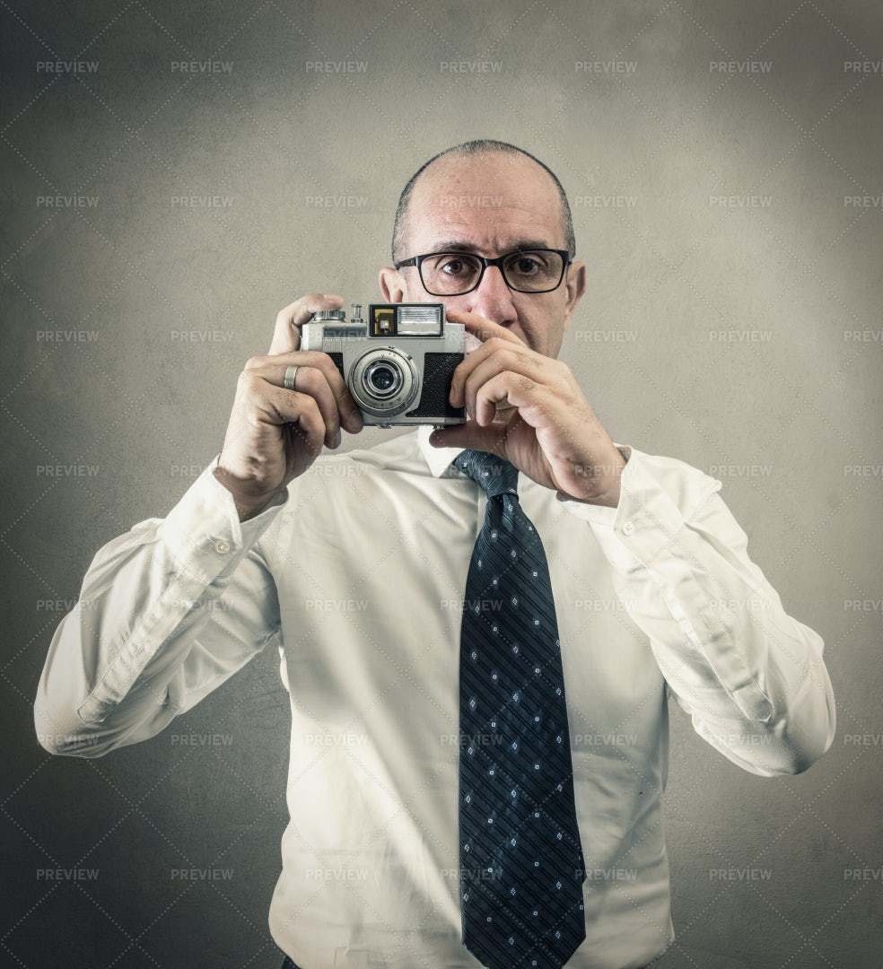Taking A Photo: Stock Photos