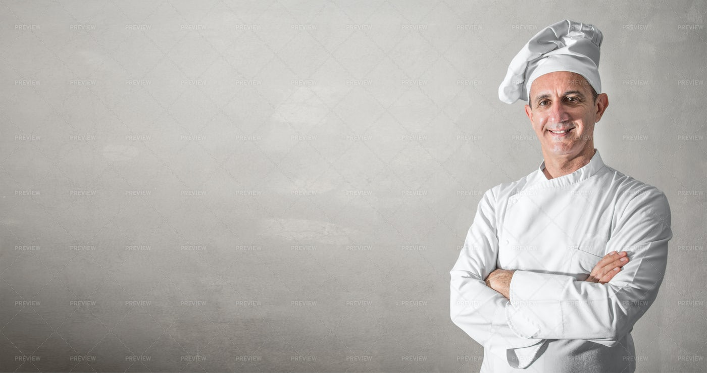 Smiling Chef Background: Stock Photos