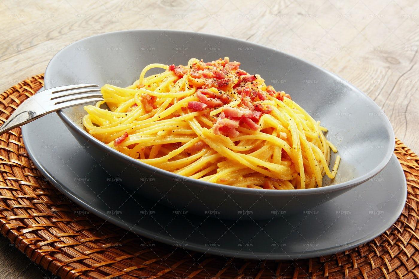 Spaghetti Carbonara: Stock Photos