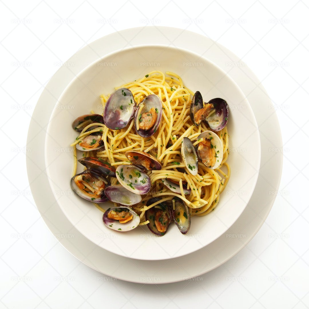 Spaghetti With Clams: Stock Photos