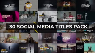 30 Social Media Titles Pack : Premiere Pro Templates