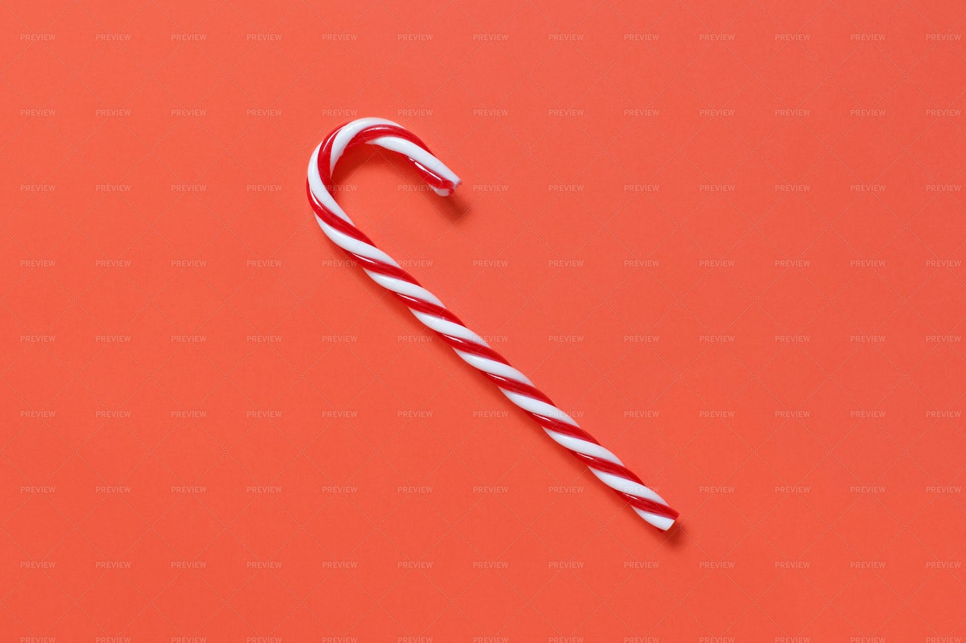 Red And White Christmas Stick: Stock Photos