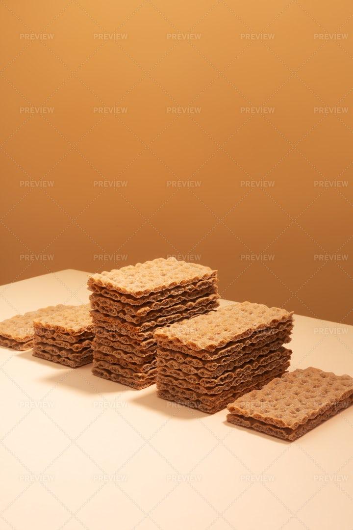 Crispbread On A Beige Background: Stock Photos