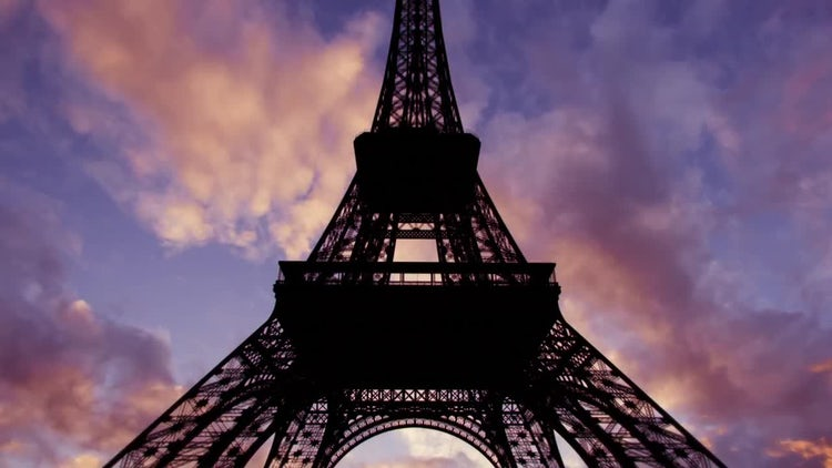 The Eiffel Tower In Paris Timelapse: Stock Video