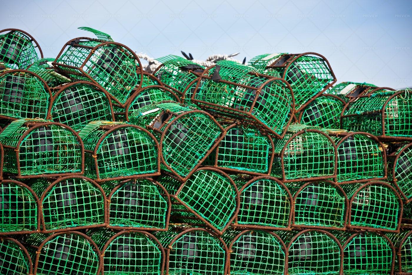 Crab Traps: Stock Photos
