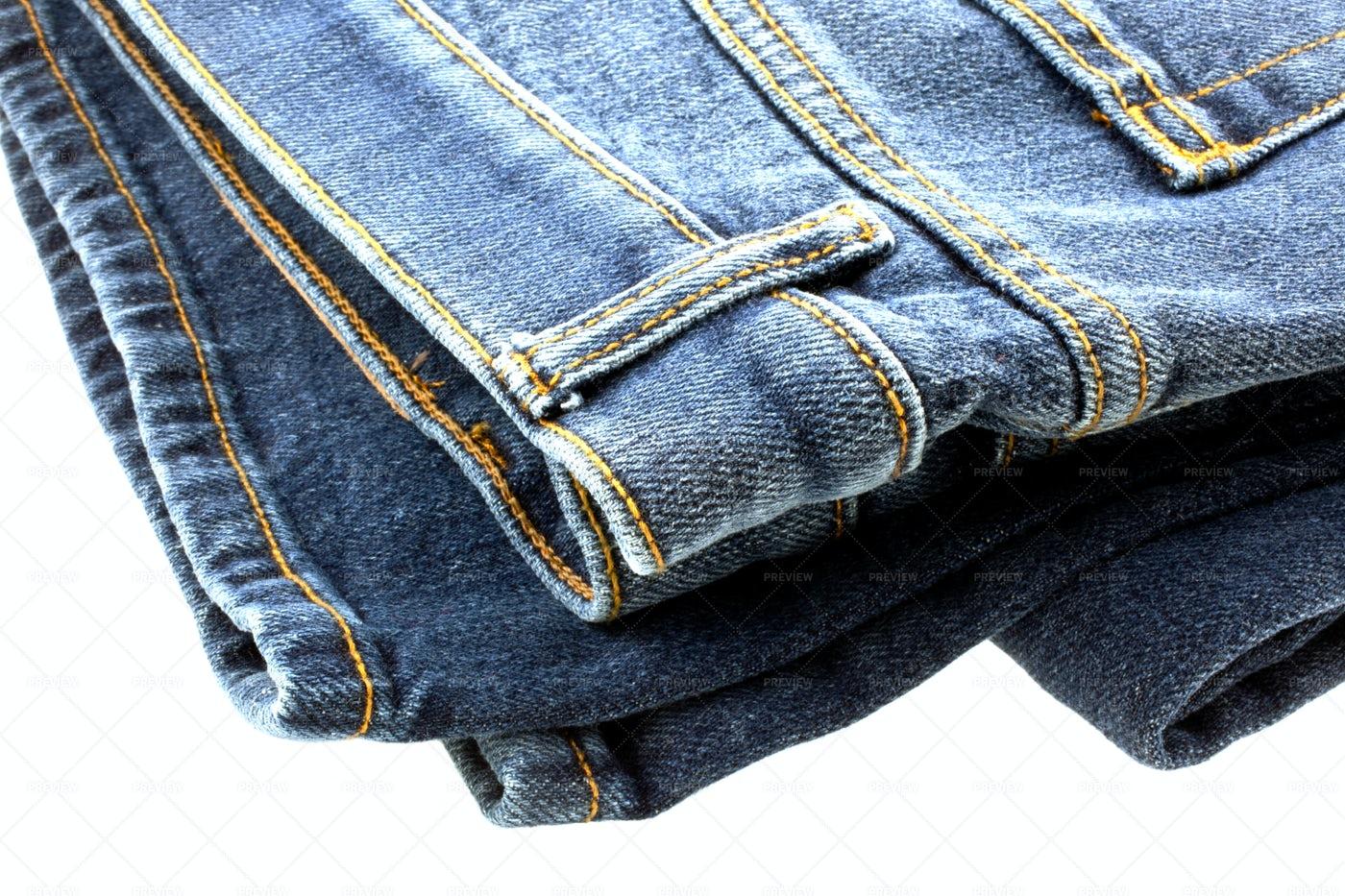 Blue Denim Jeans: Stock Photos