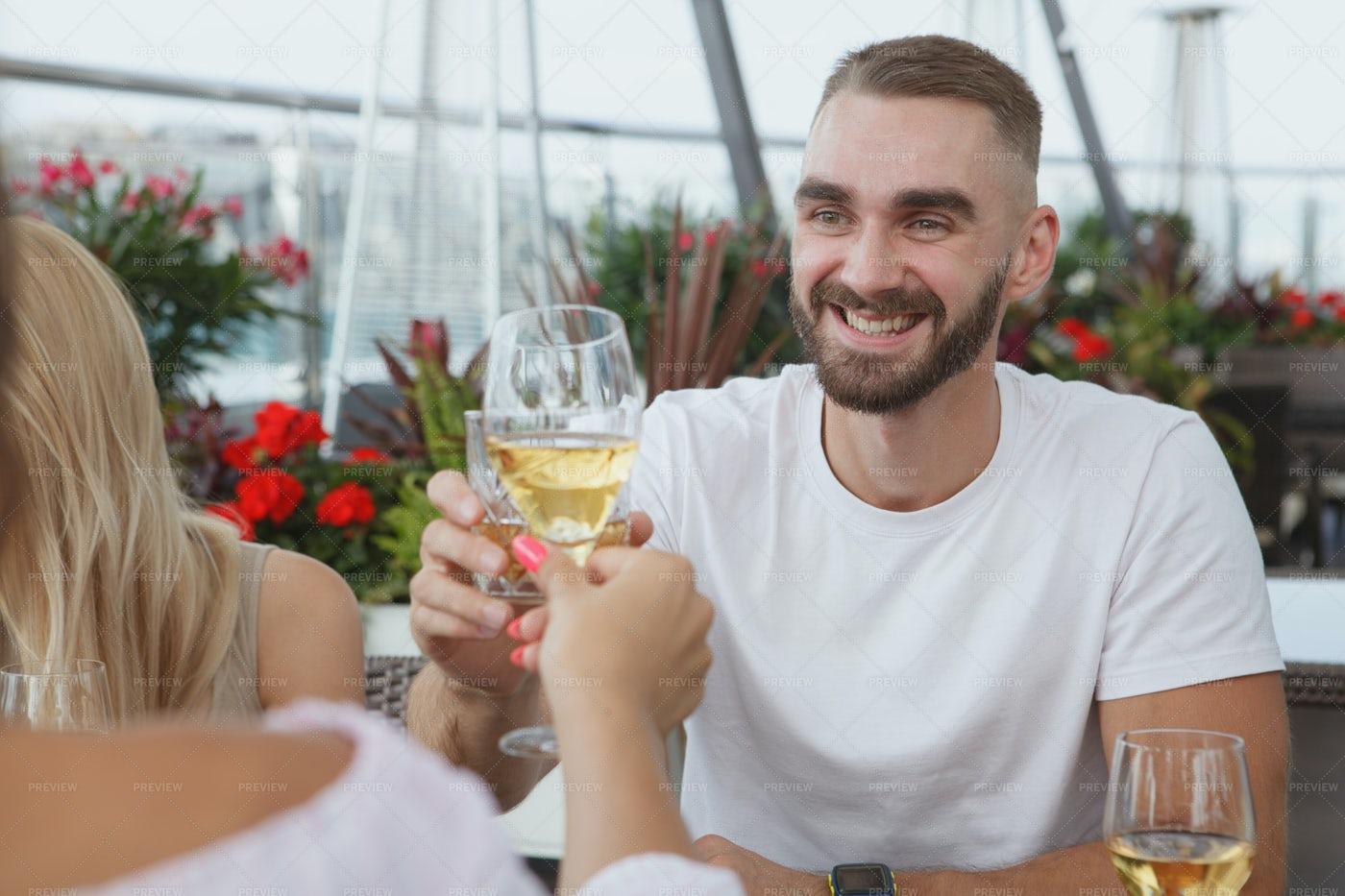 Rooftop Bar Date: Stock Photos