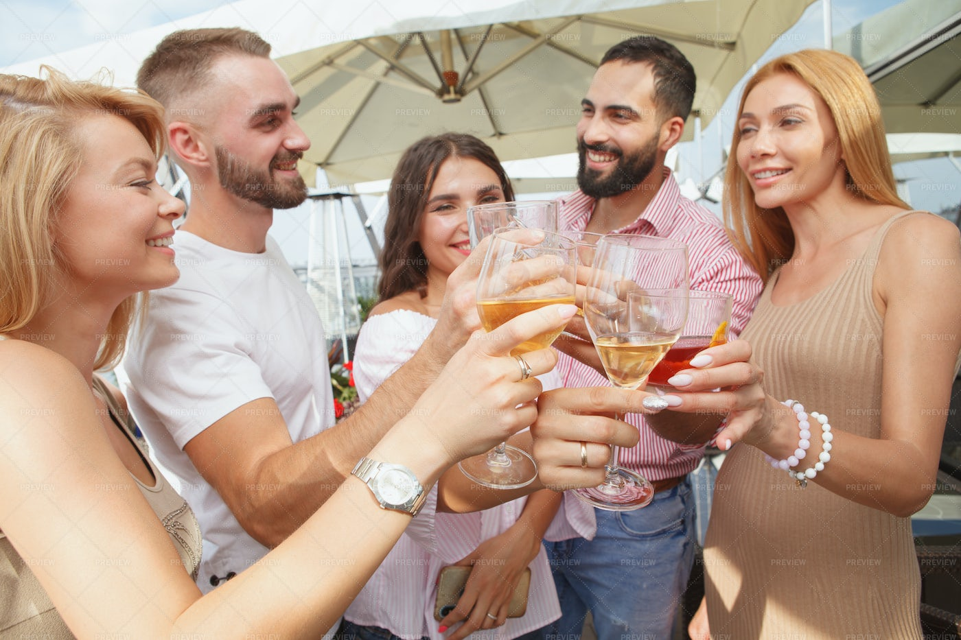 Rooftop Cocktail Party: Stock Photos