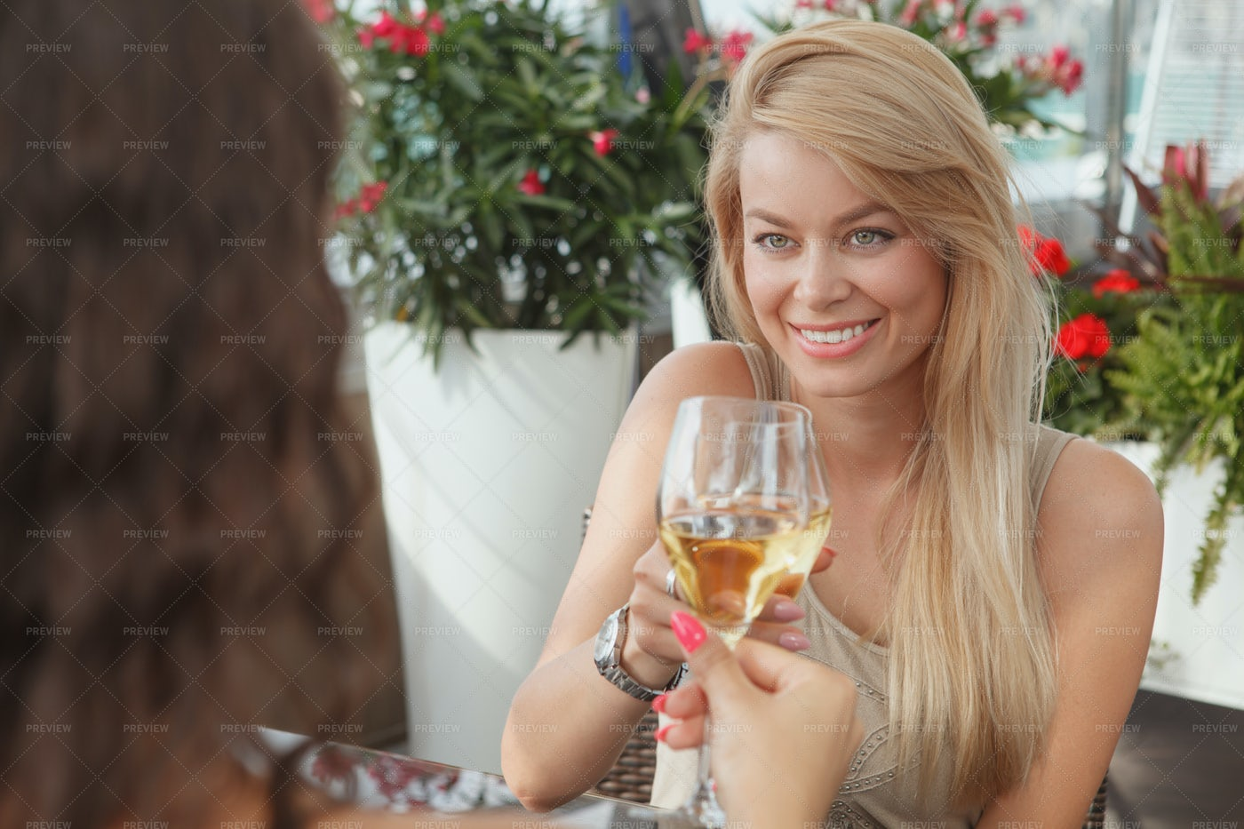 Female Friends Enjoying Drinks: Stock Photos