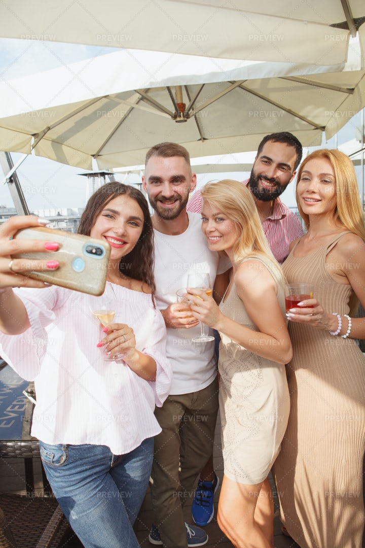 Selfie At The Party: Stock Photos