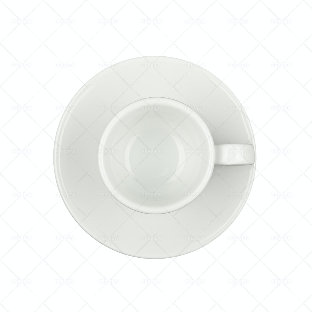 Empty Espresso Coffee Cup: Stock Photos