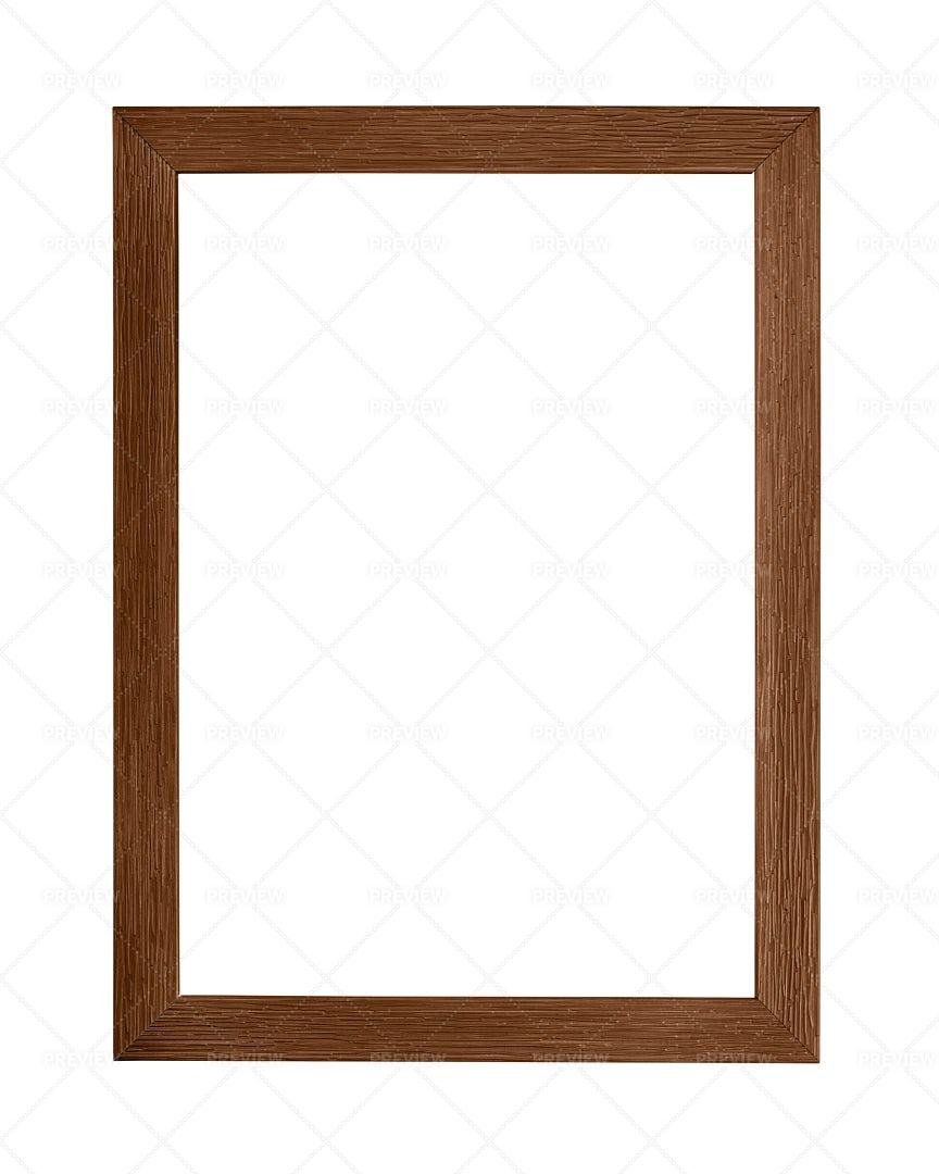 Dark Brown Picture Frame: Stock Photos
