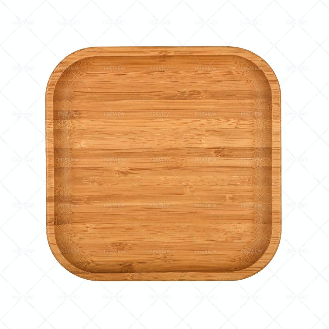 Brown Wooden Tray: Stock Photos