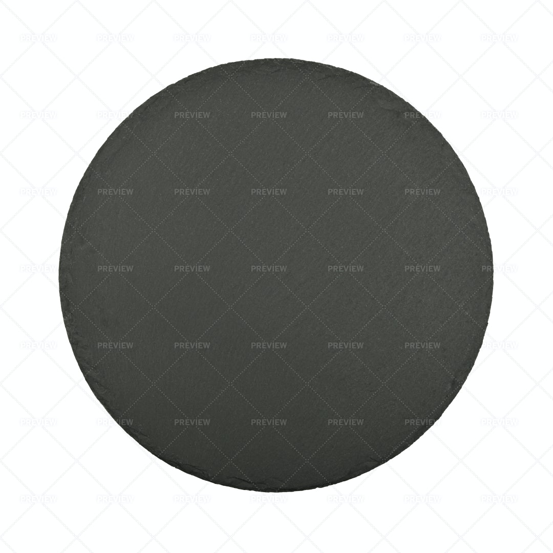 Round Black Slate Board: Stock Photos