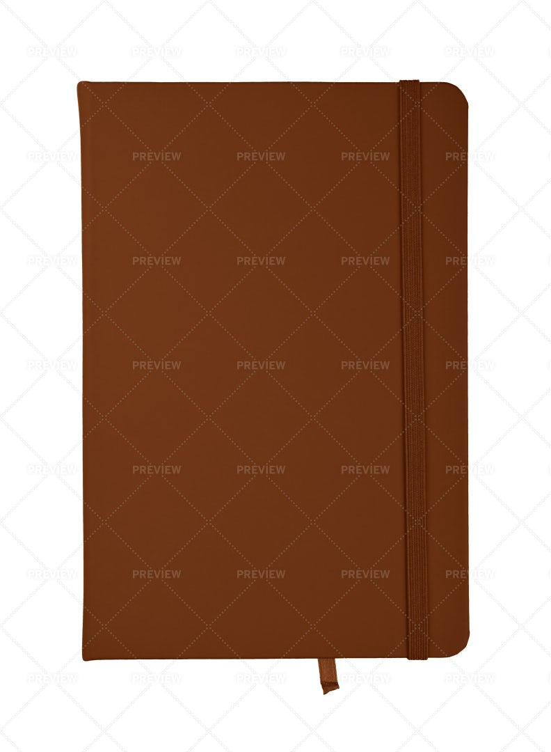 Brown Leather Notebook: Stock Photos