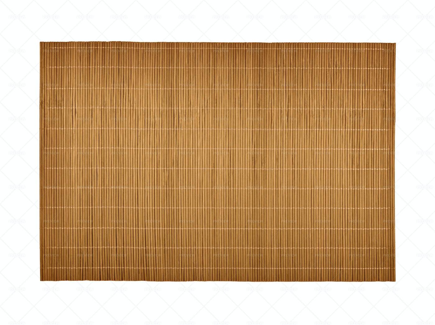 Wooden Bamboo Mat: Stock Photos