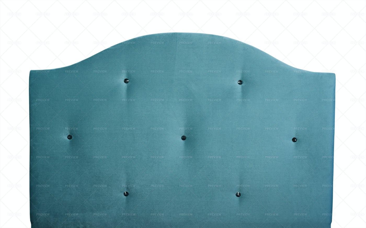 Blue Velvet Headboard: Stock Photos