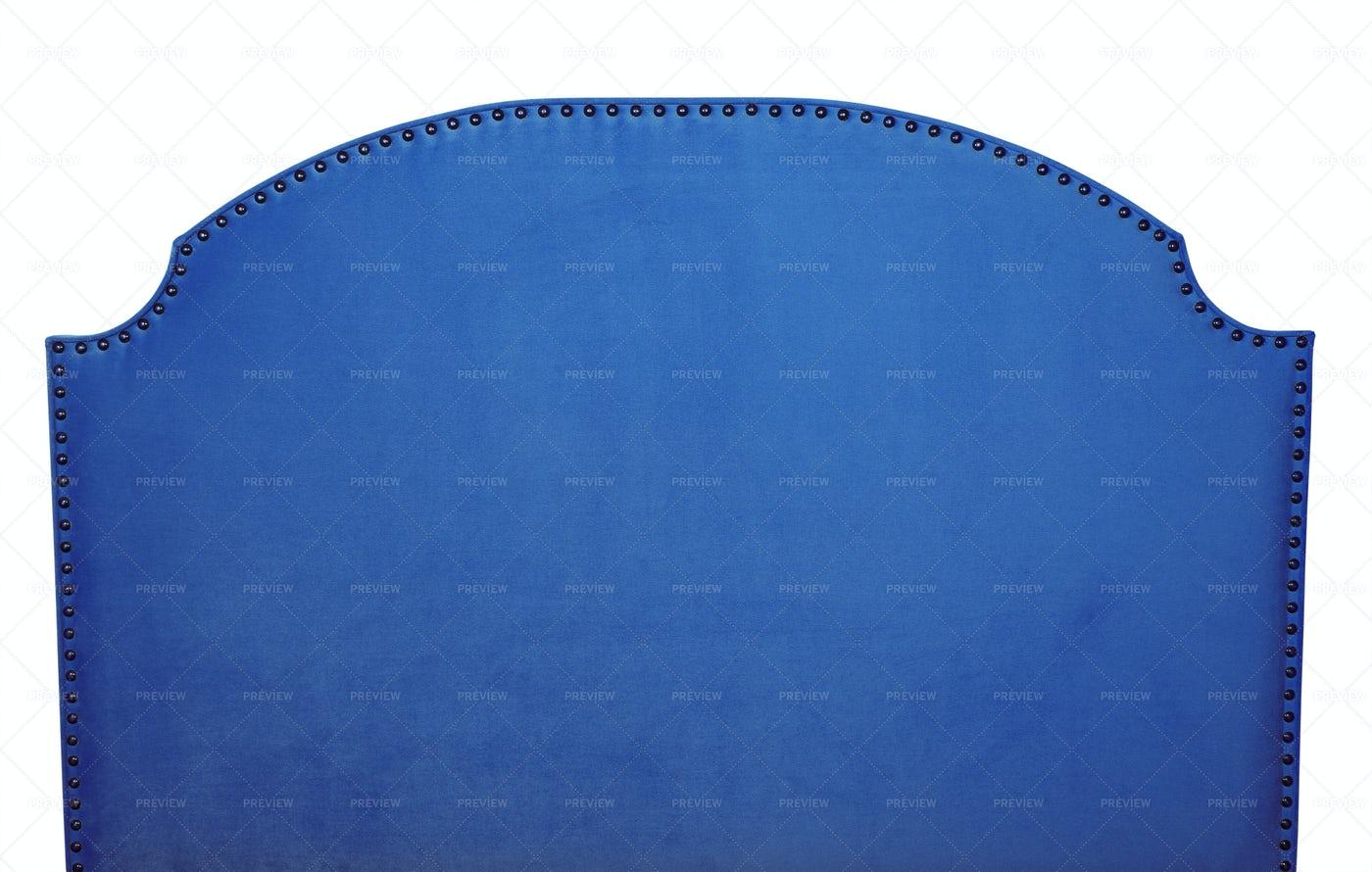 Indigo Blue Headboard: Stock Photos
