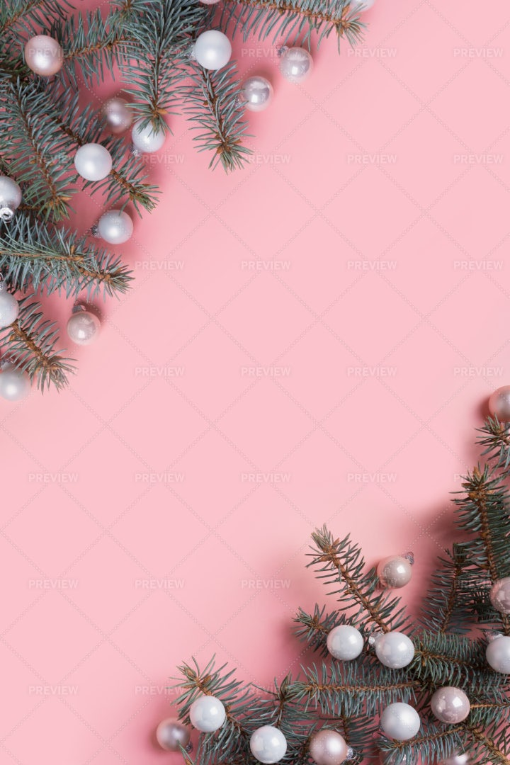 White Christmas Balls: Stock Photos