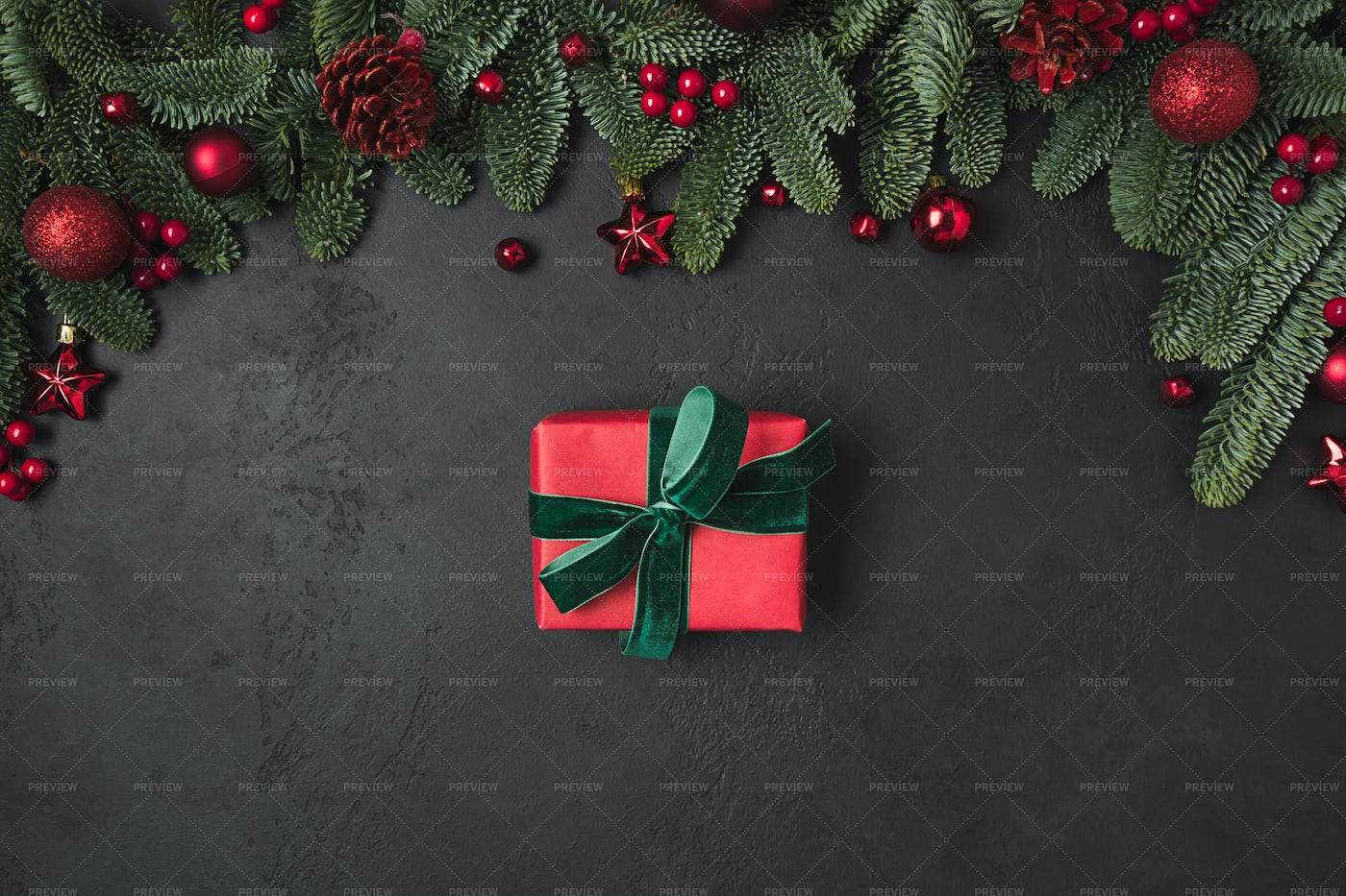 Red Gift And Decoration: Stock Photos