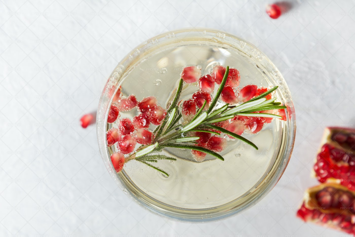 Wine With Pomegranate: Stock Photos
