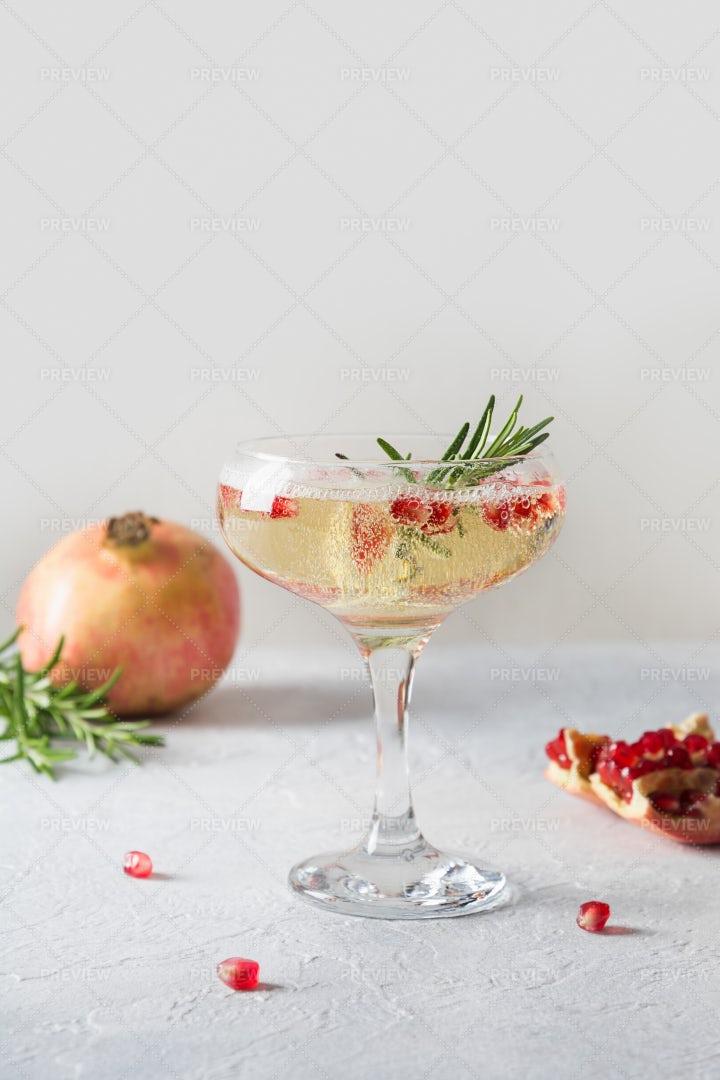 Sparkling Wine At Christmas: Stock Photos