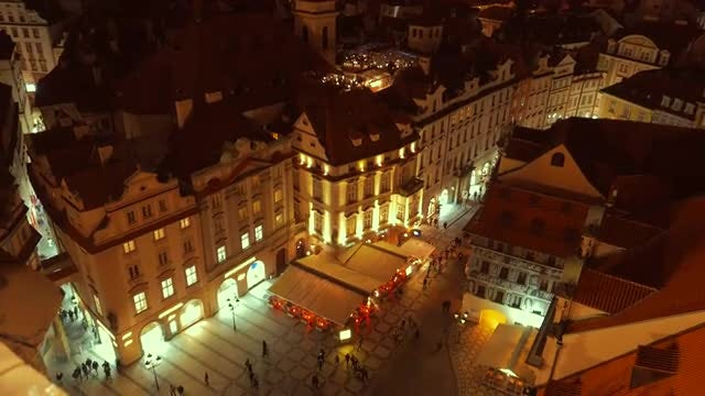 Aerial View Old Town Square : Stock Video