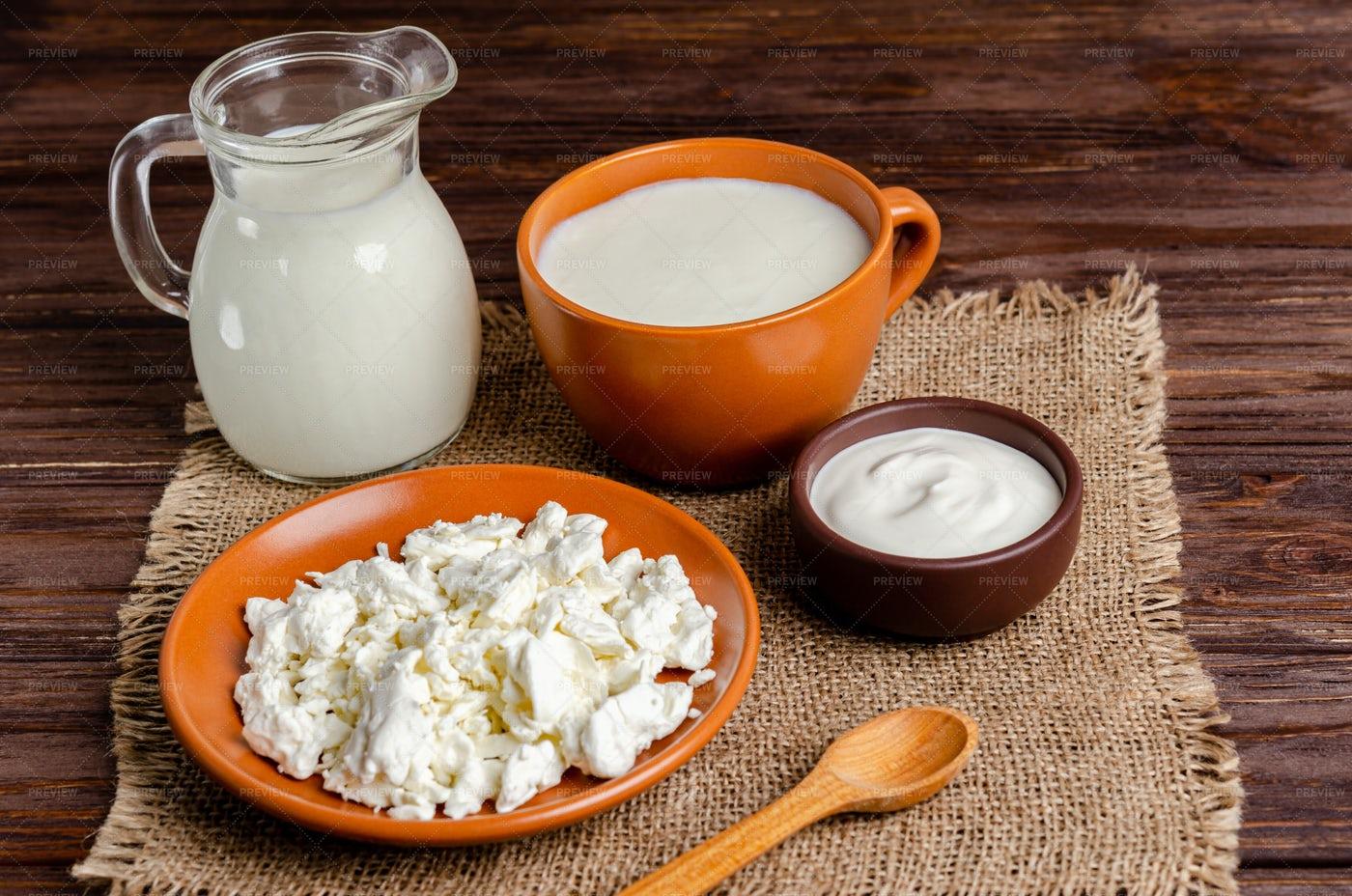 Milk Products: Stock Photos