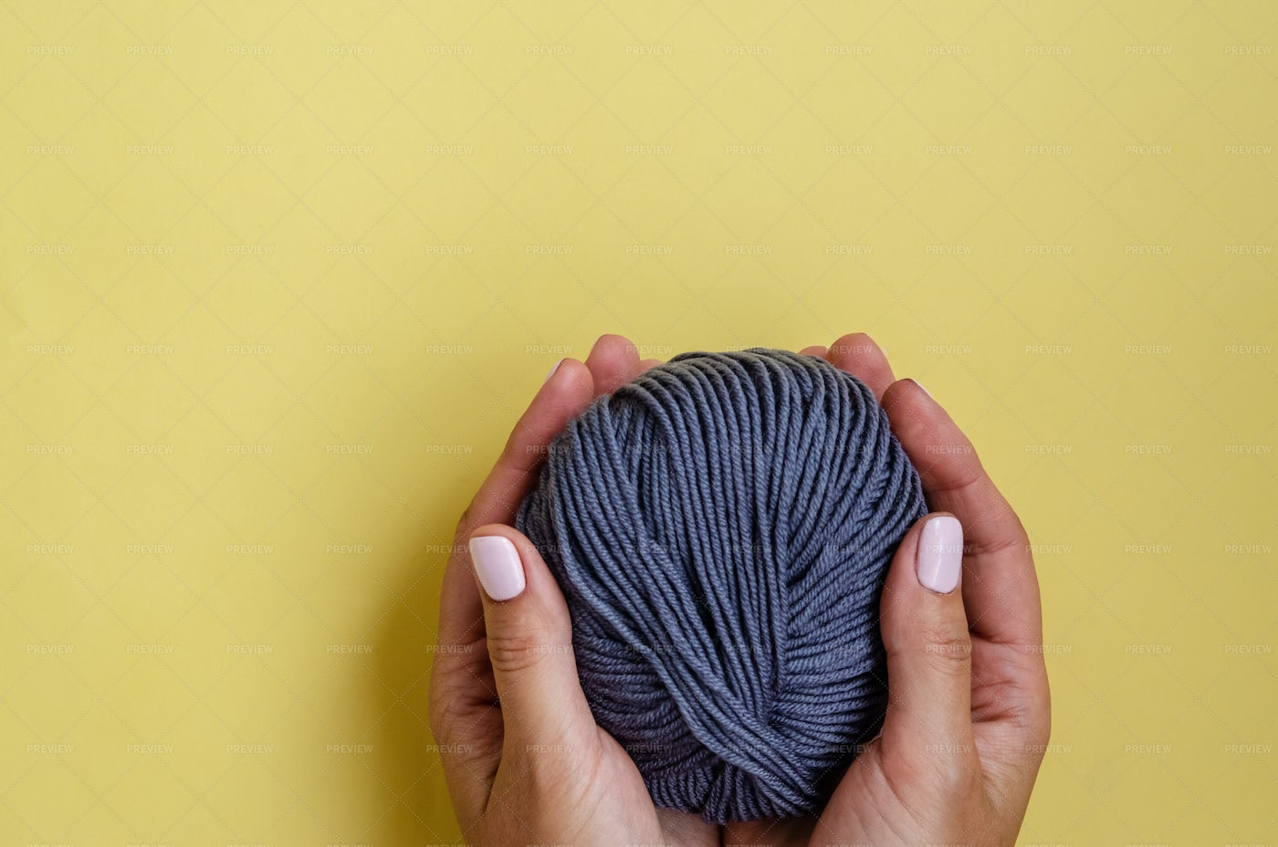 Threads In Female Hands: Stock Photos