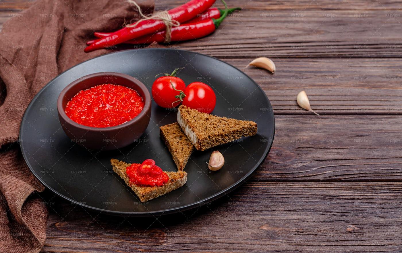 Red Pepper Sauce: Stock Photos