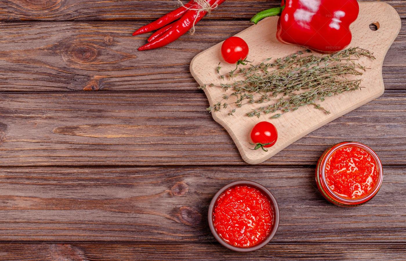 Ajvar Sauce: Stock Photos