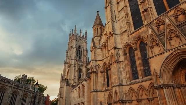 POV Of York Minster England: Stock Video