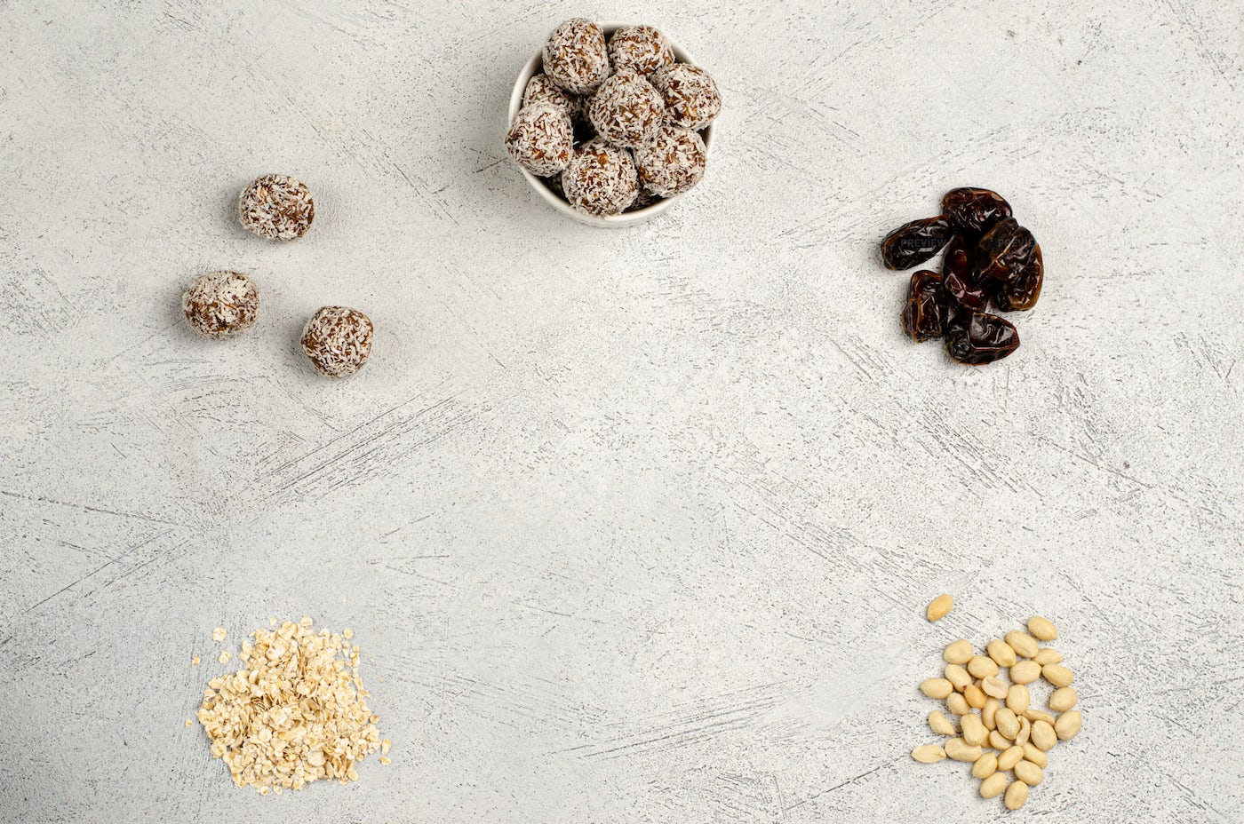 Energy Sweets And Peanuts: Stock Photos
