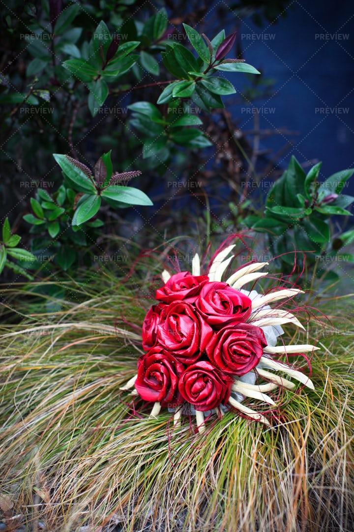 Flax Bouquet: Stock Photos