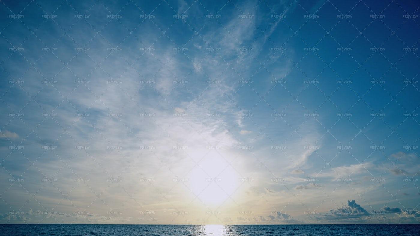 Sun Over The Calm Ocean: Stock Photos
