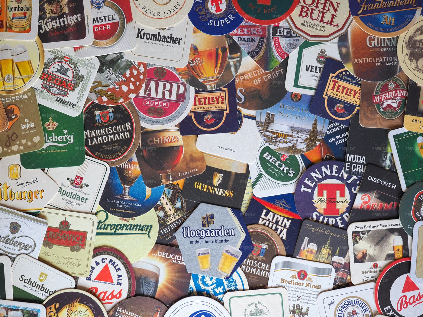 Beermats Background: Stock Photos