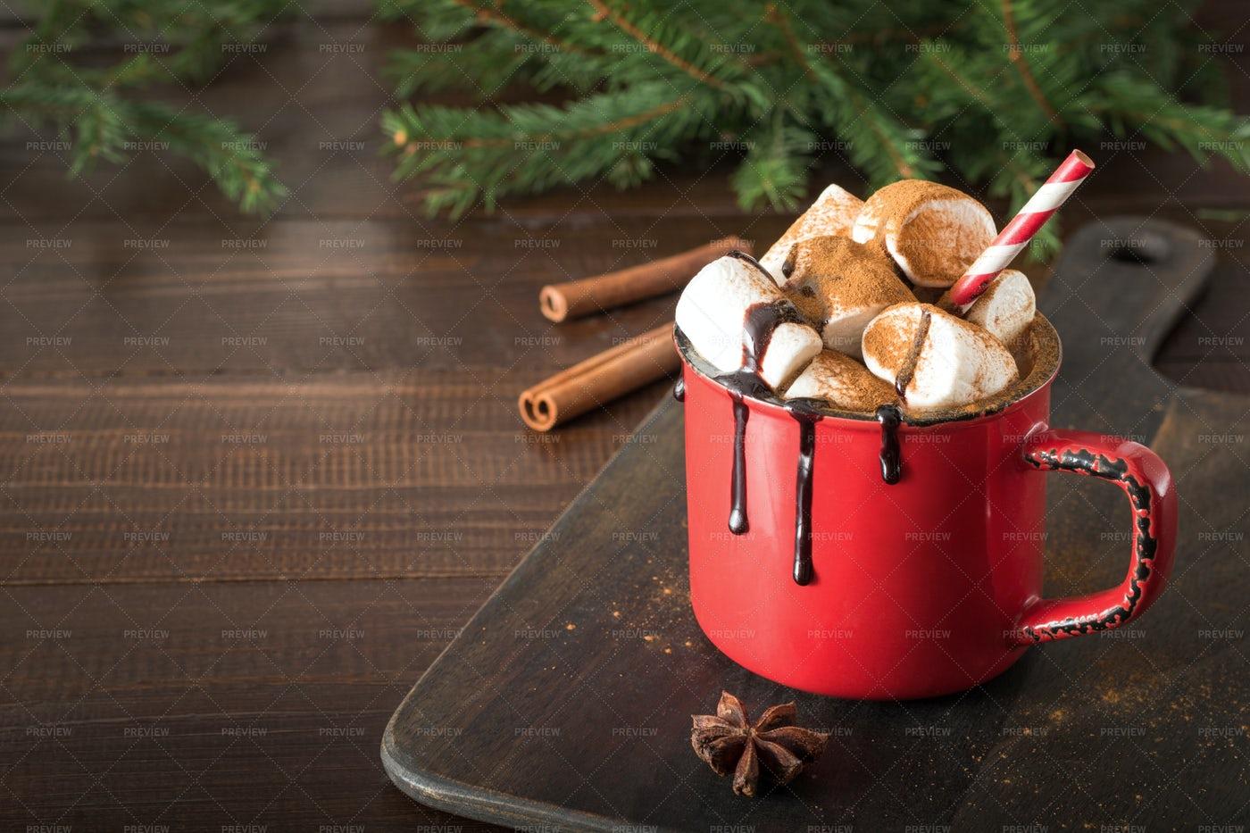 Mug Of Hot Chocolate: Stock Photos