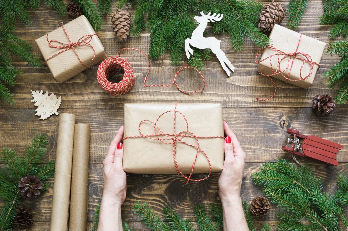 Christmas Giftbox And Presents: Stock Photos