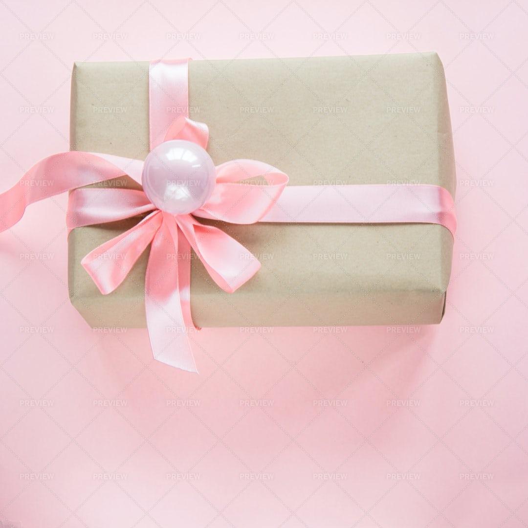 Christmas Gift On Pink: Stock Photos