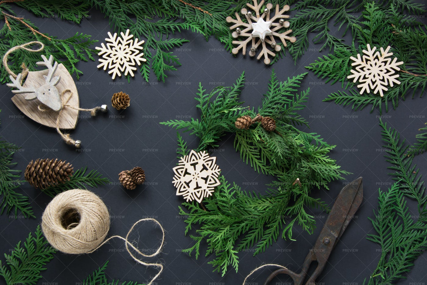 Christmas Holiday Decorations: Stock Photos