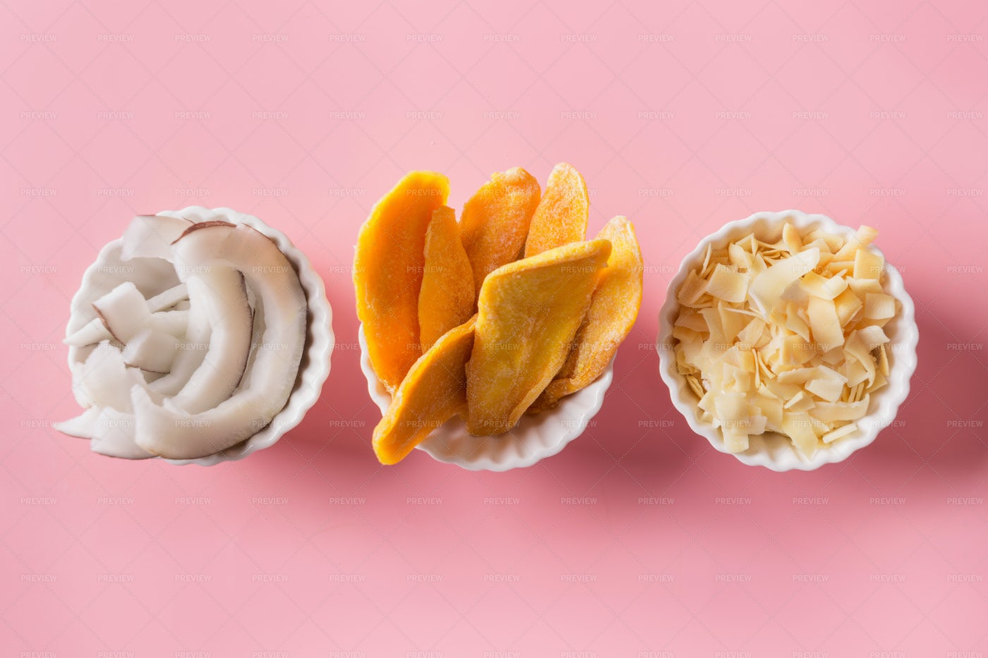 Dried Mango And Coconut: Stock Photos