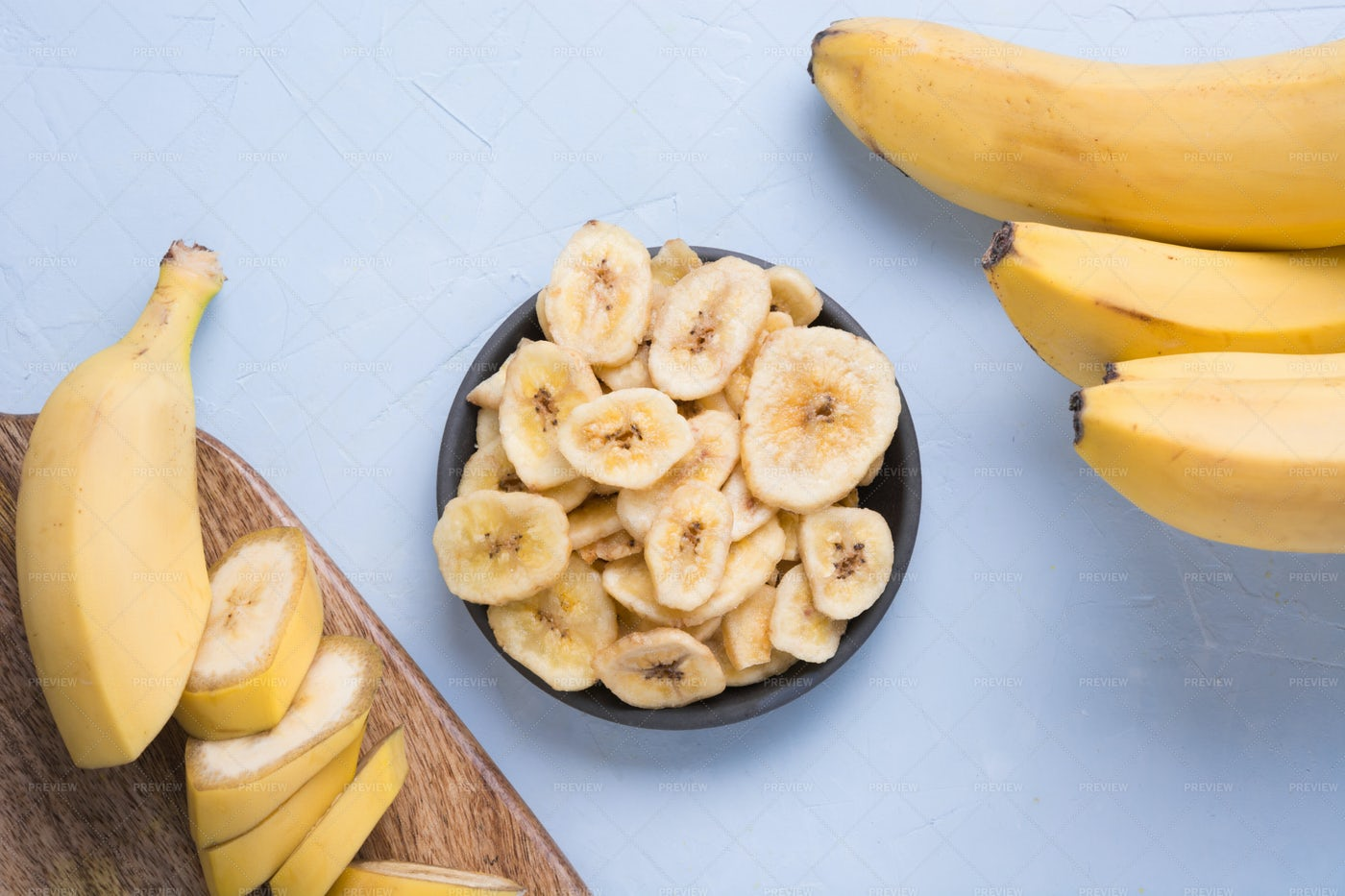 Dried Banana Chips: Stock Photos