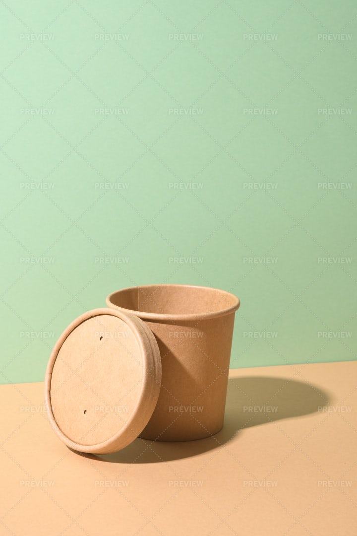 An Open Soup Cup: Stock Photos