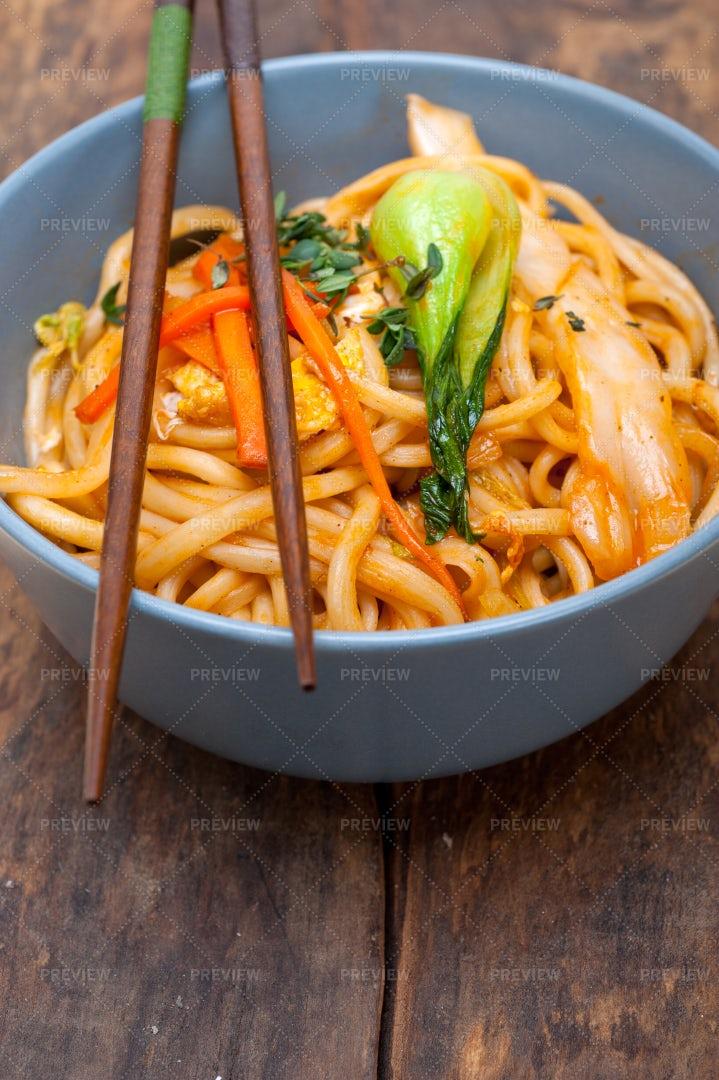 Hand-Pulled Ramen Noodles: Stock Photos